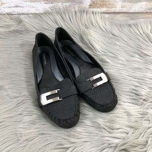 Calvin Klein Black Loafers Size 8